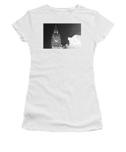 Big Ben With Cloud Women's T-Shirt (Athletic Fit)