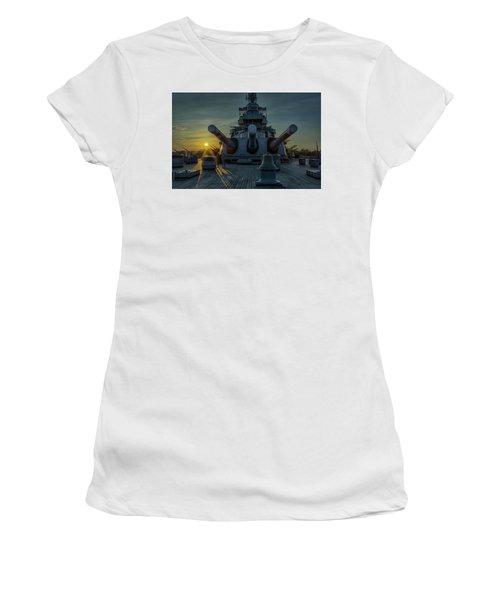 Big Guns At Sunset Women's T-Shirt (Junior Cut)