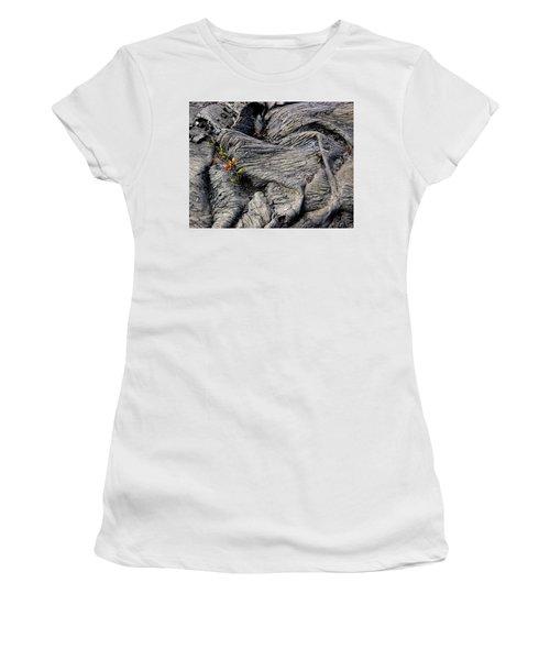 Big Island Lava Flow Women's T-Shirt (Athletic Fit)