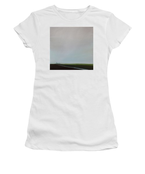 Women's T-Shirt (Junior Cut) featuring the painting Big Sky by Tone Aanderaa