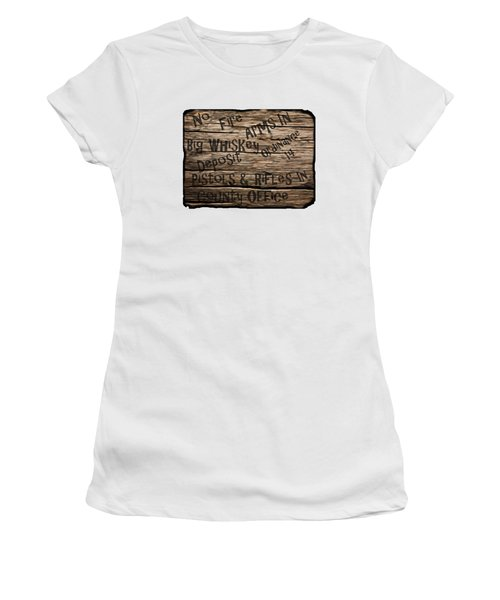 Big Whiskey Fire Arm Sign Women's T-Shirt (Athletic Fit)