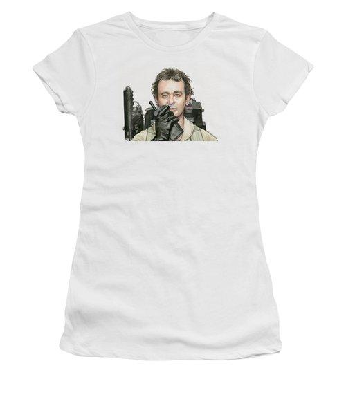 Bill Murray Ghostbusters Peter Venkman Women's T-Shirt (Athletic Fit)