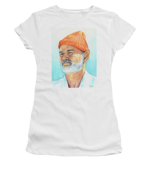 Bill Murray Steve Zissou Life Aquatic Women's T-Shirt (Athletic Fit)