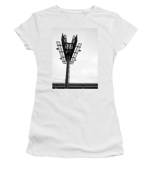 Billboard Above Interstate 15 In Helena Mt Women's T-Shirt
