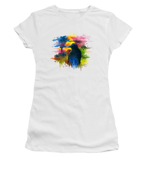 Bird 71 Crow Raven Women's T-Shirt (Athletic Fit)