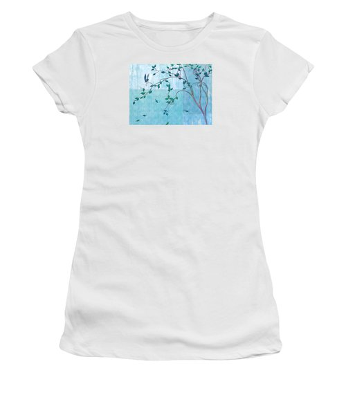 Bird In A Tree-2 Women's T-Shirt (Athletic Fit)