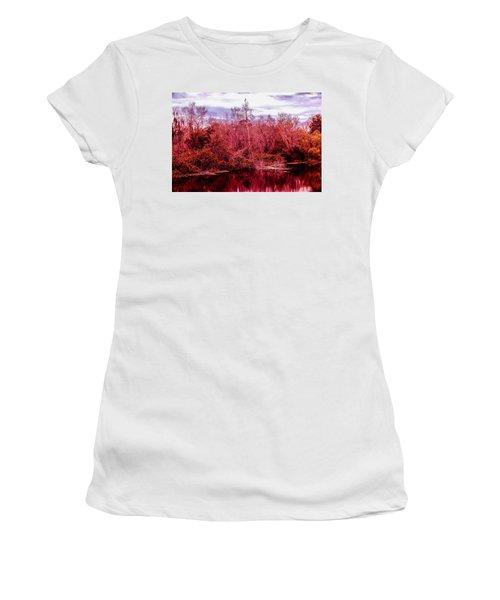 Women's T-Shirt (Junior Cut) featuring the photograph Bird Out On A Limb 2 by Madeline Ellis