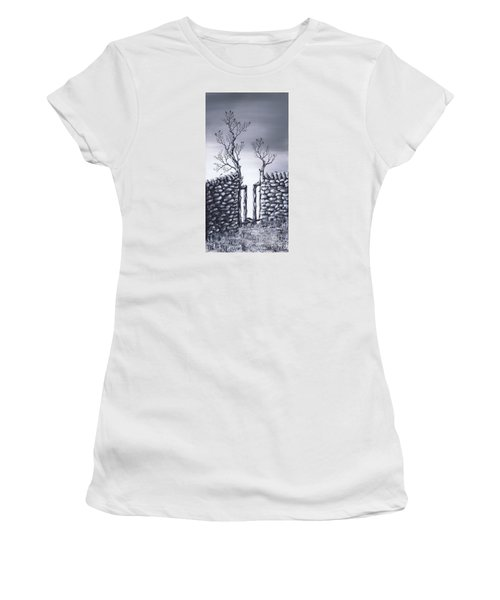 Women's T-Shirt (Junior Cut) featuring the painting Bird Tree by Kenneth Clarke