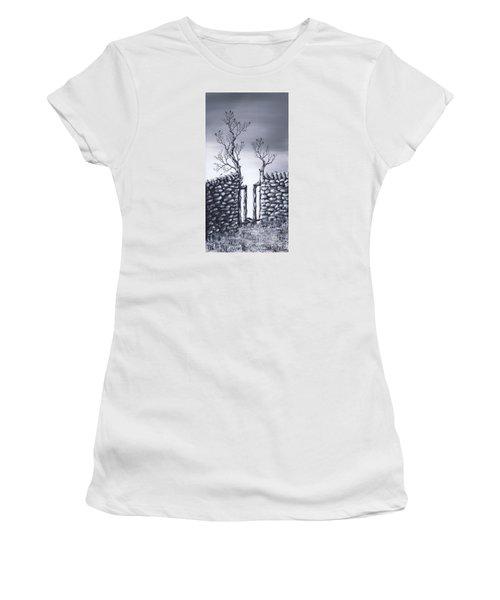 Bird Tree Women's T-Shirt (Junior Cut) by Kenneth Clarke