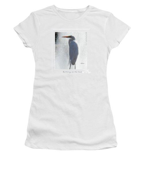 Birds And Fun At Butler Park Austin - Birds 2 Macro Poster Women's T-Shirt (Junior Cut) by Felipe Adan Lerma