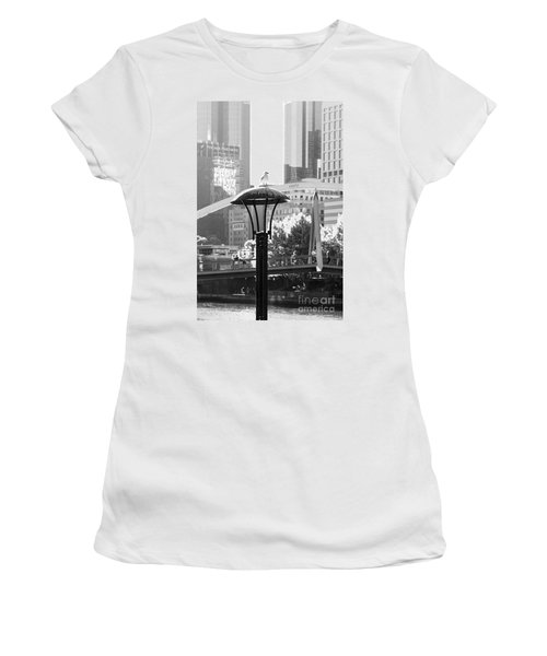 Birds Eye View Of The City Women's T-Shirt (Athletic Fit)