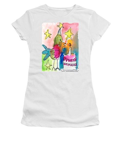 Birthday Bird Women's T-Shirt