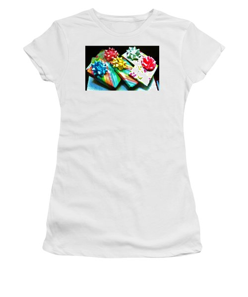 Birthday Presents Women's T-Shirt (Junior Cut) by Denise Fulmer