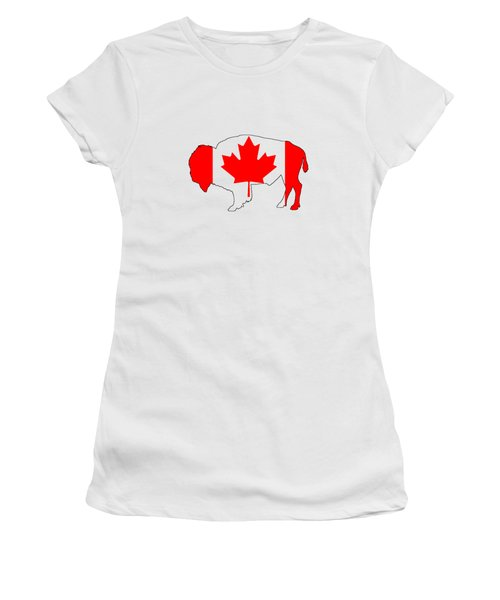 Bison Canada Women's T-Shirt (Junior Cut) by Mordax Furittus