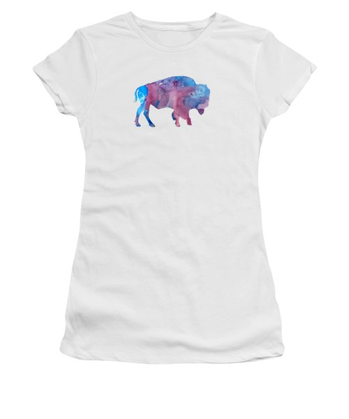 Bison Silhouette Women's T-Shirt (Athletic Fit)