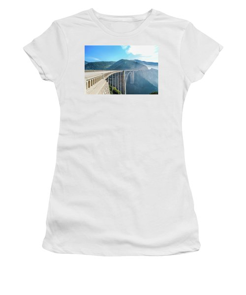 Women's T-Shirt (Athletic Fit) featuring the photograph Bixby Bridge,big Sur by Jingjits Photography