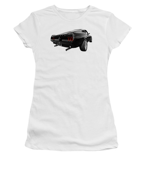 Black 1967 Mustang Women's T-Shirt (Athletic Fit)