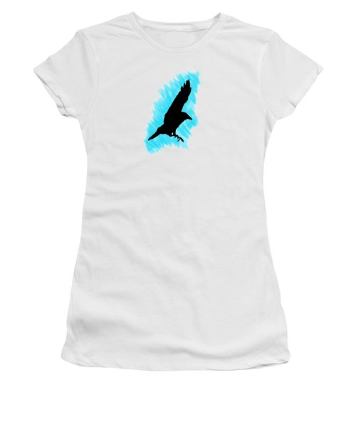 Black And Blue Women's T-Shirt (Junior Cut) by Linsey Williams