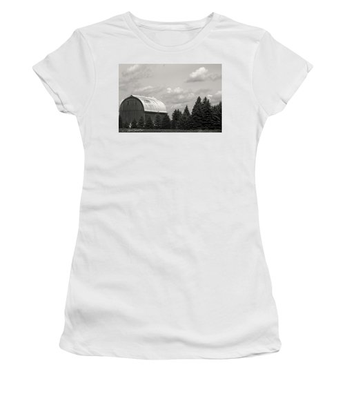 Black And White Barn Women's T-Shirt (Junior Cut) by Joann Copeland-Paul