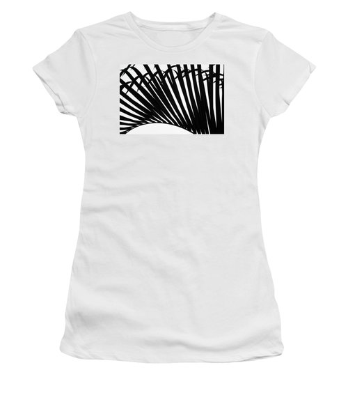 Black And White Palm Branch Women's T-Shirt