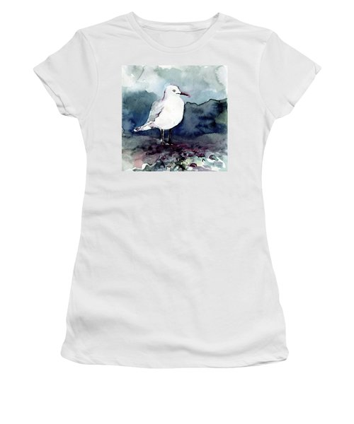 Black-billed Gull Women's T-Shirt (Athletic Fit)