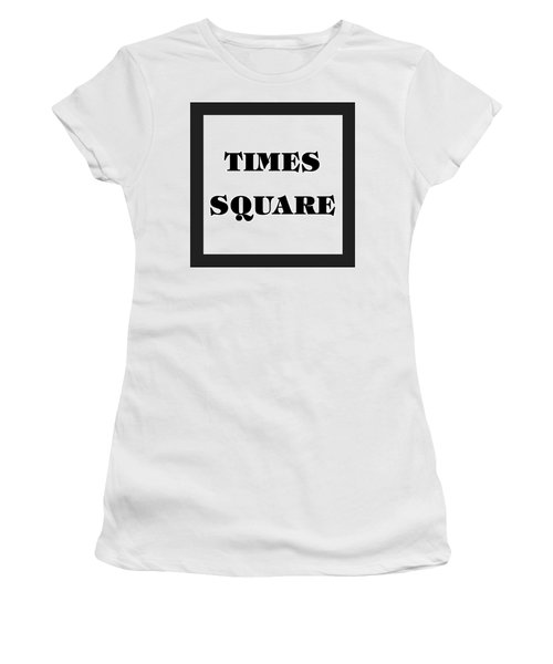 Black Border Times Square Women's T-Shirt (Athletic Fit)