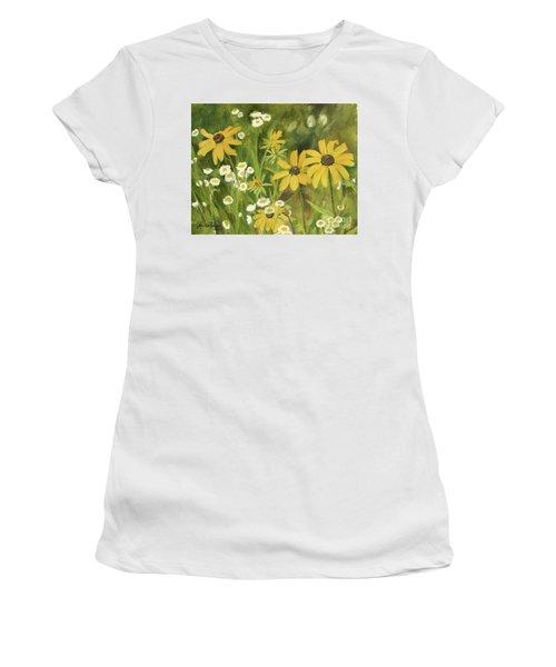 Black-eyed Susans In A Field Women's T-Shirt