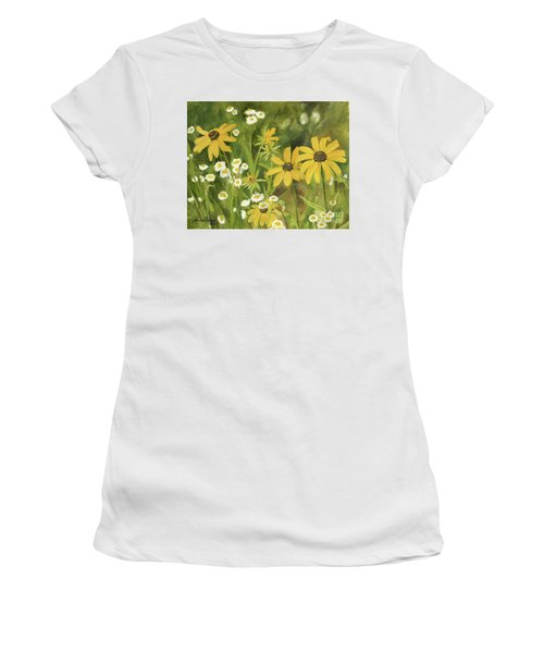 Black-eyed Susans In A Field Women's T-Shirt (Athletic Fit)