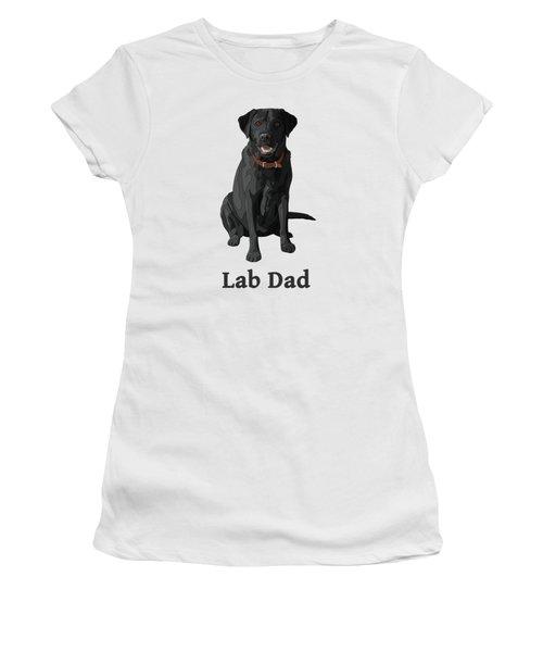 Black Labrador Retriever Lab Dad Women's T-Shirt