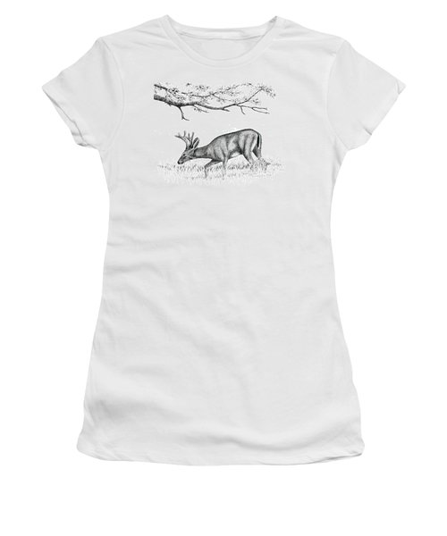 Black Tail In Velvet Women's T-Shirt (Athletic Fit)