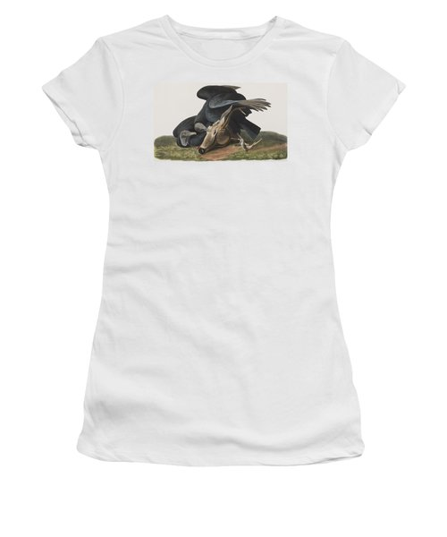 Black Vulture Or Carrion Crow Women's T-Shirt (Athletic Fit)