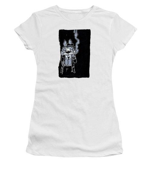 Blake Burns Detective Bunny Women's T-Shirt (Junior Cut) by Bizarre Bunny