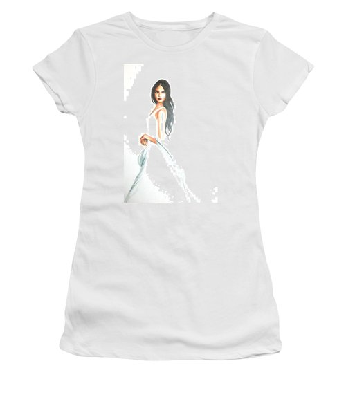 Women's T-Shirt featuring the drawing Blanca by MB Dallocchio