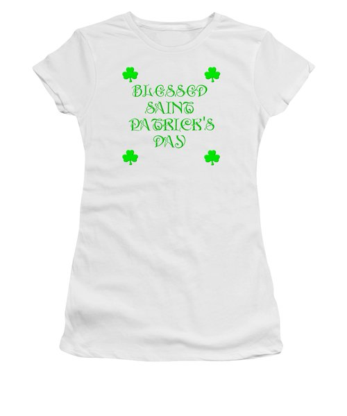 Women's T-Shirt featuring the digital art Blessed Saint Patricks Day by Rose Santuci-Sofranko