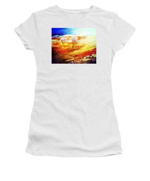Blossom Dawn Women's T-Shirt (Junior Cut) by Winsome Gunning