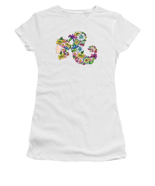 Blossoming Ponytail Women's T-Shirt (Athletic Fit)