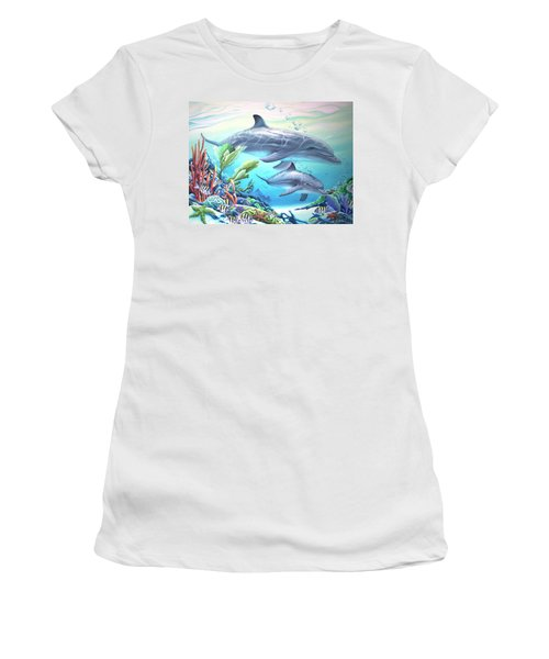 Blowing Bubbles Women's T-Shirt (Junior Cut) by William Love
