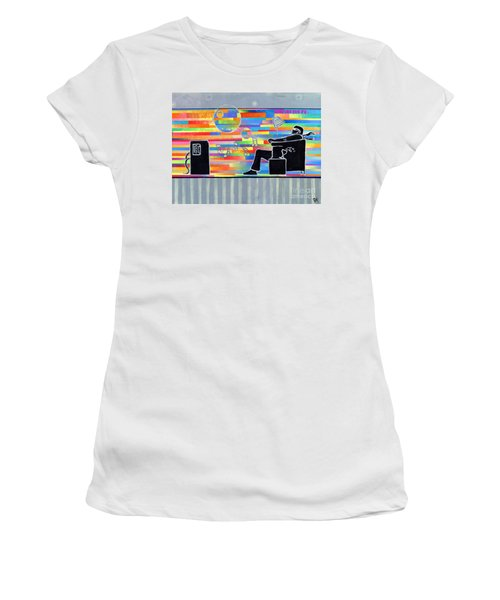 Blown Away Jeremy Style Women's T-Shirt (Athletic Fit)