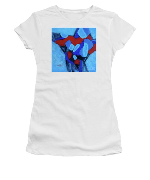 Blue And Red Women's T-Shirt