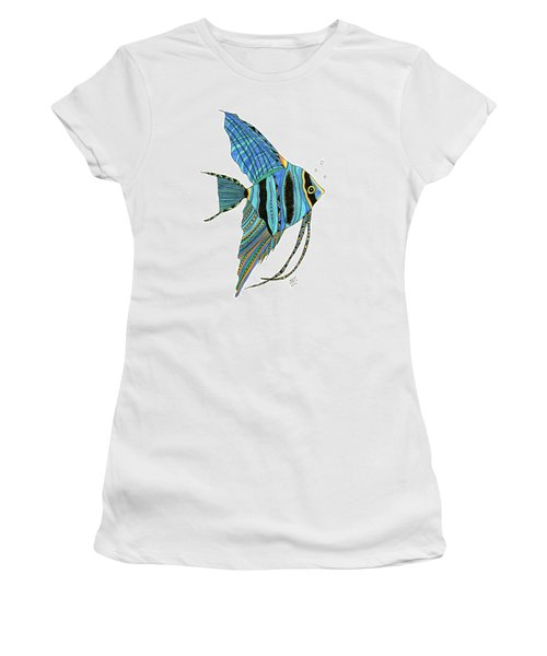Blue Anglefish Women's T-Shirt (Athletic Fit)