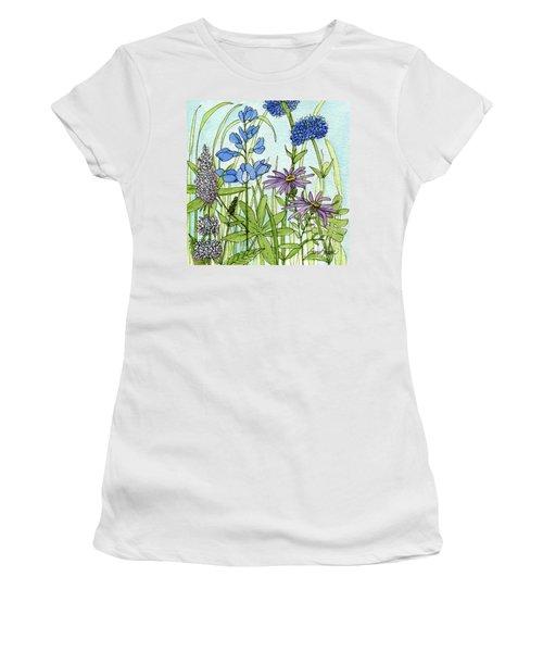 Blue Buttons Women's T-Shirt
