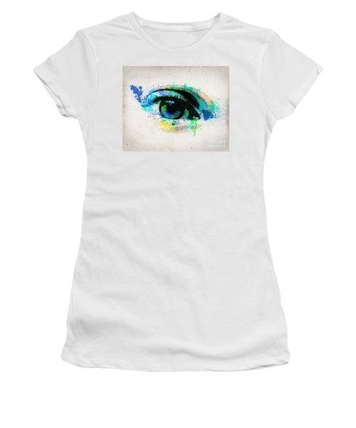 Blue Eye 8x10 Women's T-Shirt