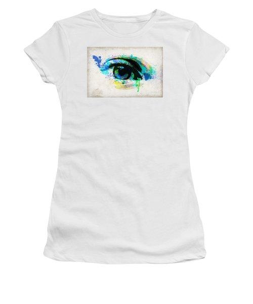 Blue Eye Watercolor Women's T-Shirt