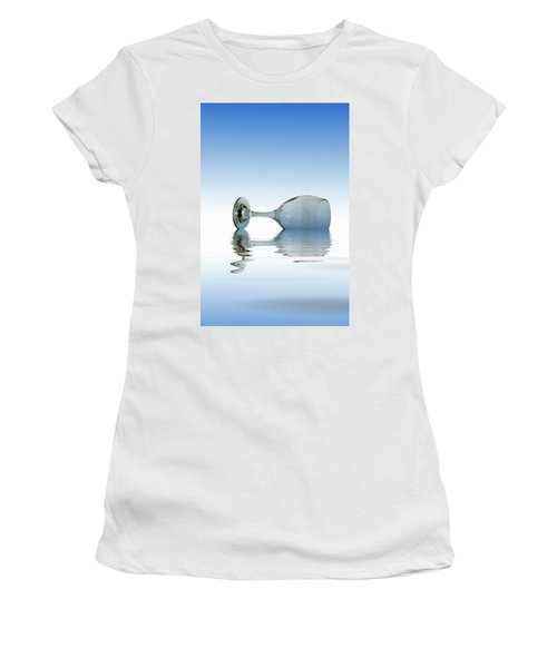 Blue Glass Women's T-Shirt (Junior Cut) by David French