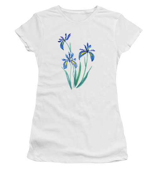 Blue Iris Women's T-Shirt (Junior Cut) by Color Color