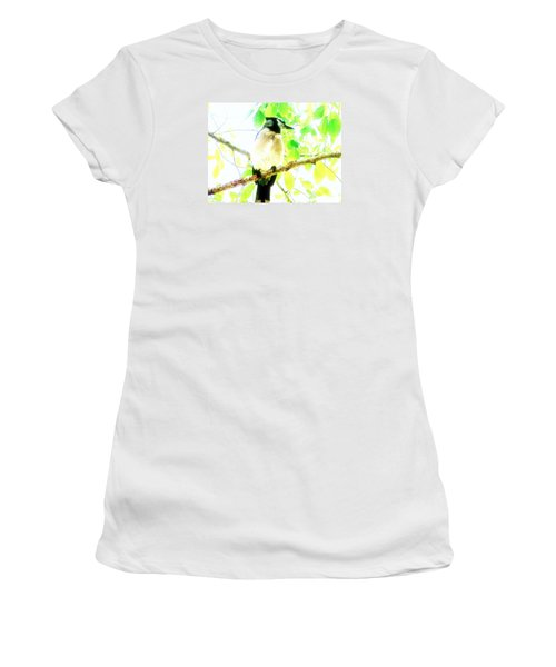 Women's T-Shirt (Junior Cut) featuring the photograph Blue Jay IIi by Clarice  Lakota