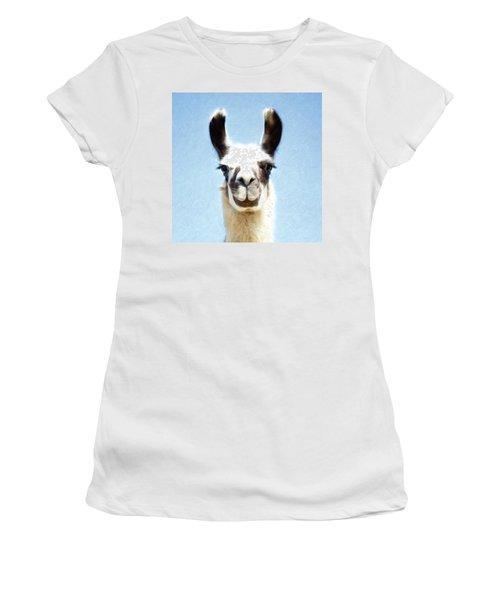 Blue Llama Women's T-Shirt