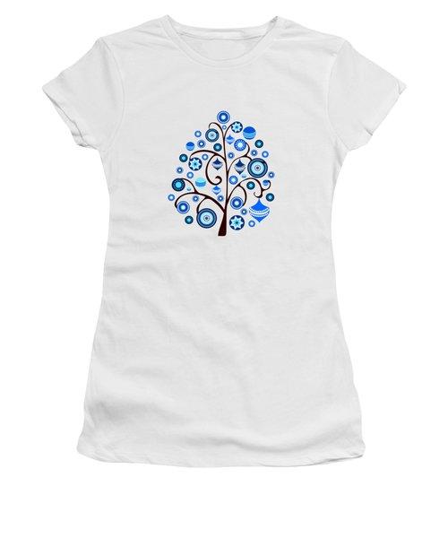 Blue Ornaments Women's T-Shirt