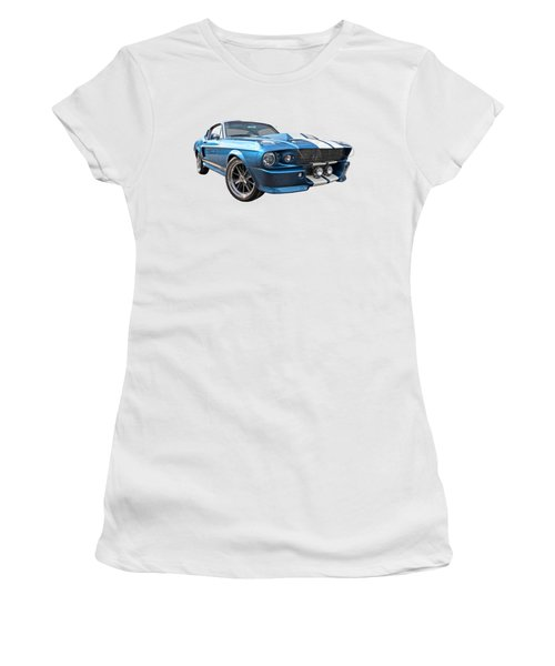 Blue Skies Cruising - 1967 Eleanor Mustang Women's T-Shirt
