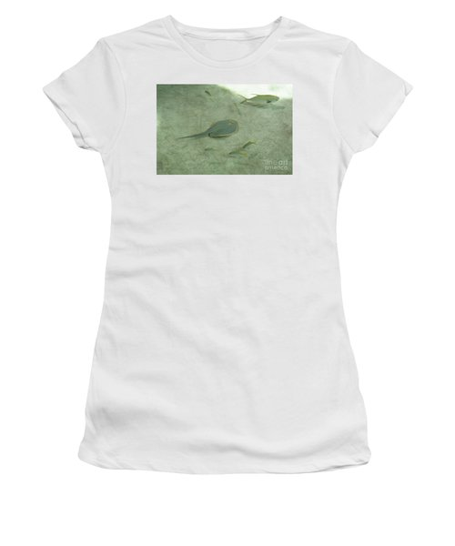 Women's T-Shirt (Athletic Fit) featuring the photograph Blue Spotted Ray And Friends by Carol Lynn Coronios